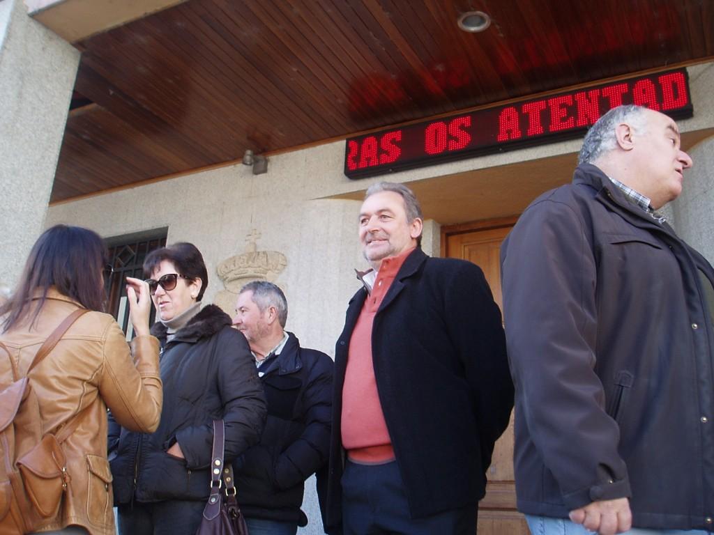 Luis Gudiña, la alcaldesa María Albert y Avelino García
