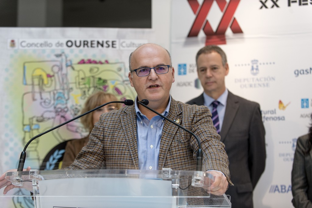 Manuel Baltar, na presentación do OUFF 2015