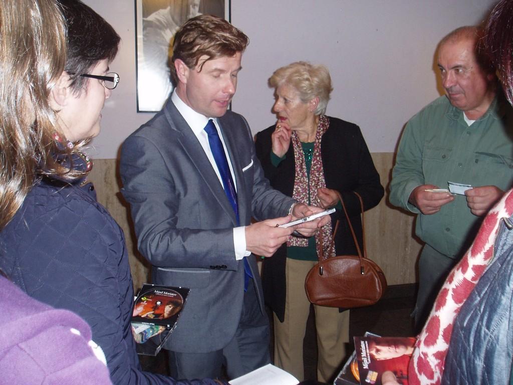 Moriatov conversa con el público