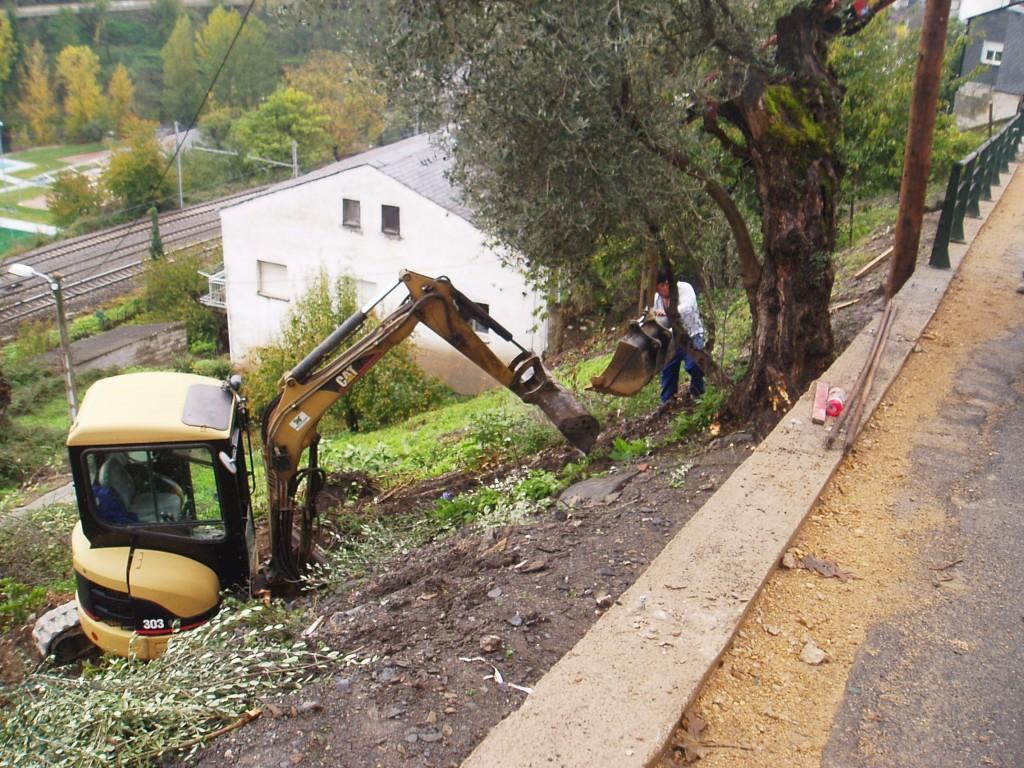 Obras en el Camiño de Inverno en Sobradelo