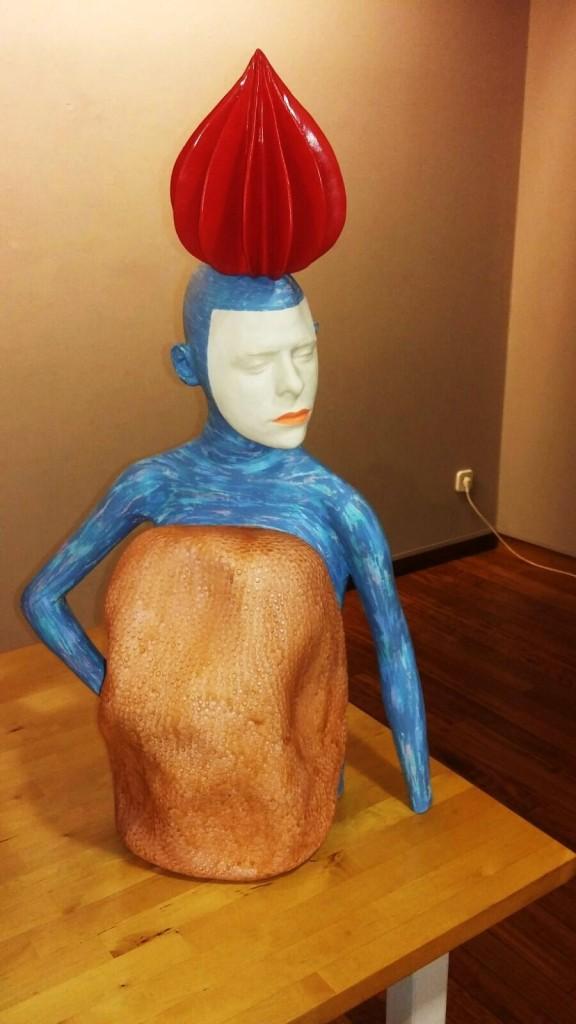 Otra de las esculturas de la exposición