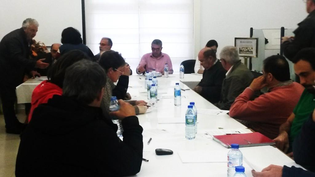 Pleno del Consello Regulador el pasado 29 de octubre  cuando lo abandonó el sector crítico