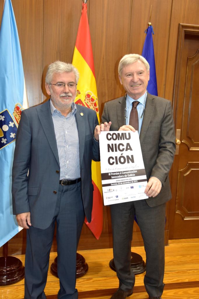 Rosendo Fernández e Alejandro Rubín na presentación do 3º Foro da Comunicación de Galicia
