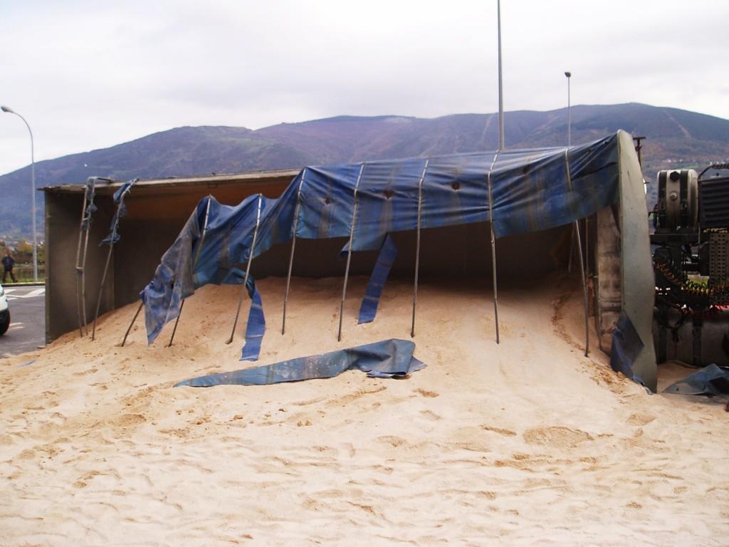 arena del camión