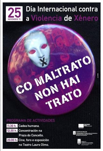 Cartel con las actividades en O Barco el Día Internacional contra la Violencia de Género