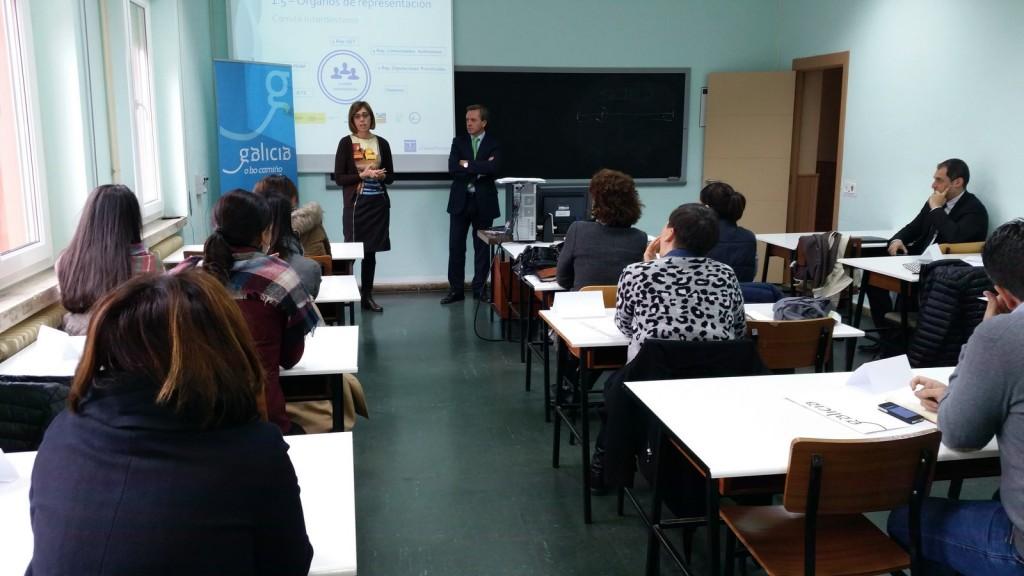 La delegada territorial de la Xunta, Raquel Arias Rodríguez, asistió ayera la primera de las jornadas formativas sobre el Sistema Integral de Calidad Turística en Destinos