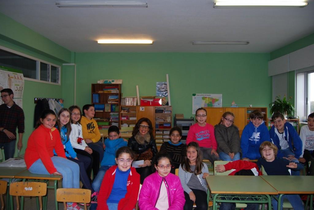 Marisol Díaz Mojón en la actividad con los escolares