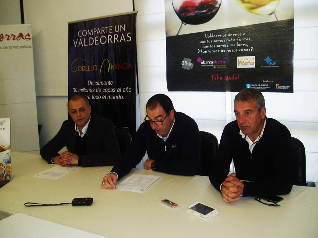 Ángel Álvarez, Carlos Terán y Solarat durante la presentación de la campaña de navidad