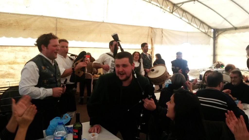 Os Bertolini durante el espectáculo