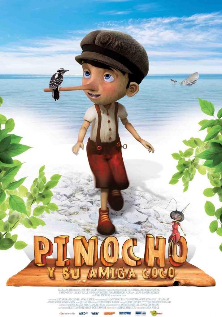 Cartel Pinocho y su amiga Coco