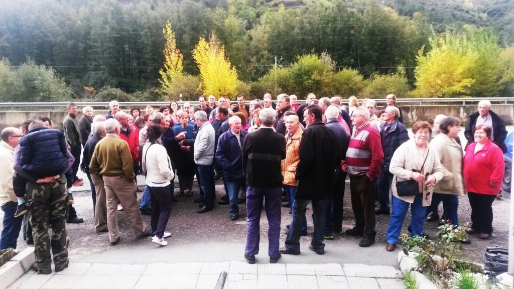 Protesta de los cooperativistas afectados ante el Consello Regulador hace un par de meses