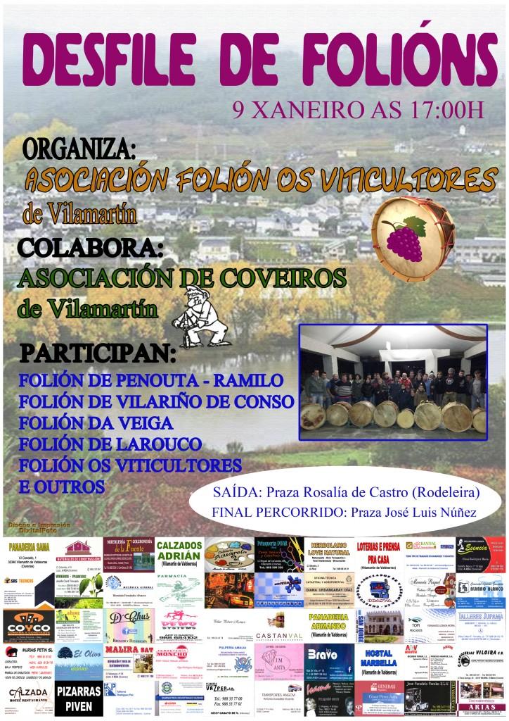 Cartel del desfile del folión de Vilamartín