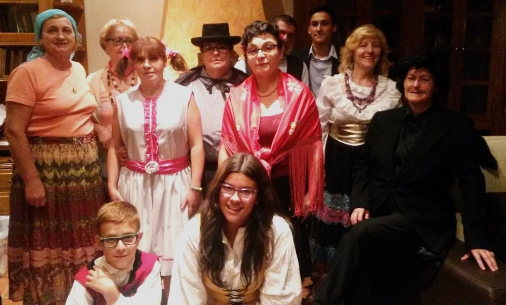 Grupo de teatro A Ruada que actúa el 27 de diciembre