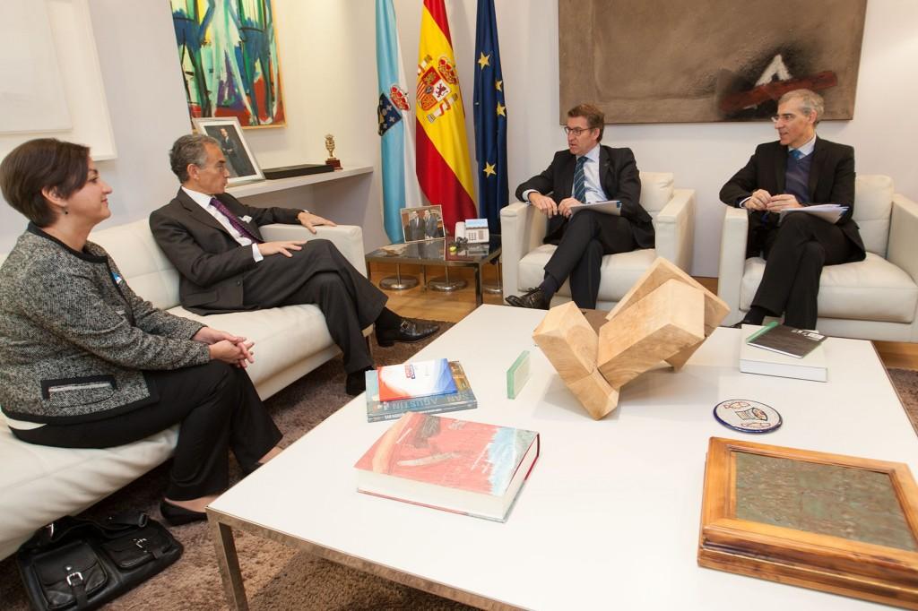 El presidente de la Xunta en su reunión con representantes de la Fundación Consejo España- EEUU