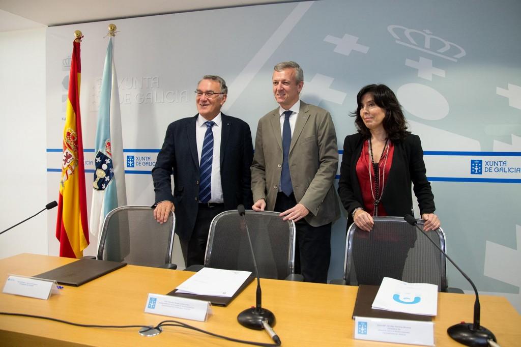 Alfredo García, Alfonso Rueda y Mar Pereira  Autor: Xoán Crespo