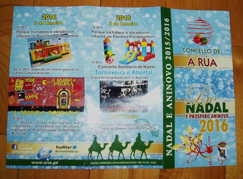Programa navideño concello de A Rúa