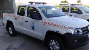 Uno de los vehículos entregados, concretamente a Viana