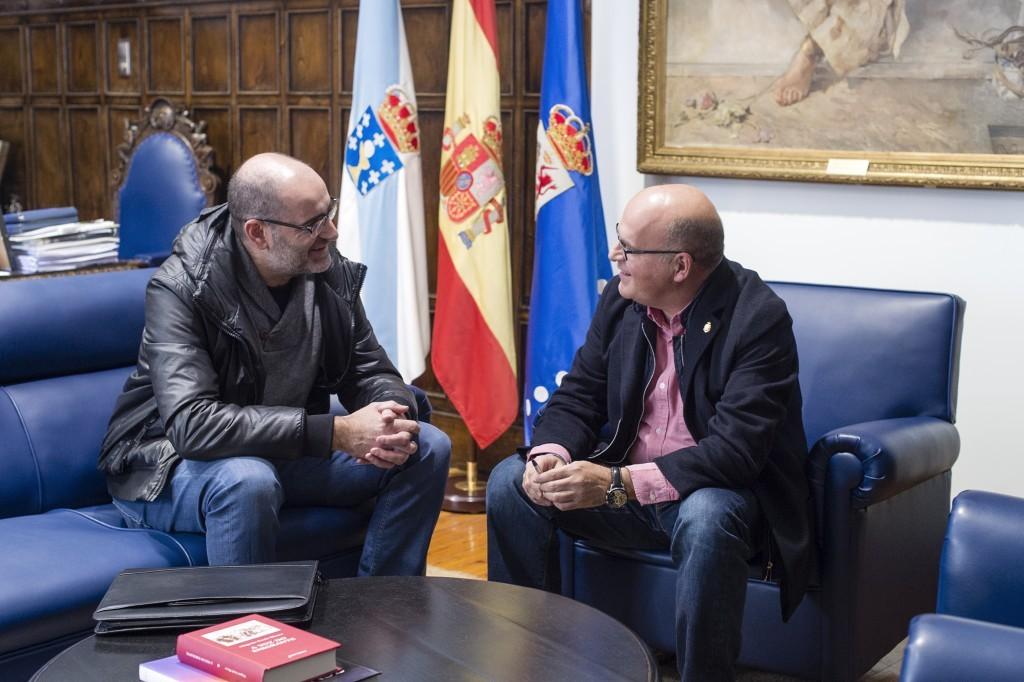Secundino Fernández y Manuel Baltar en la reunión del 23/11/2015 donde abordaron el tema de la carretera