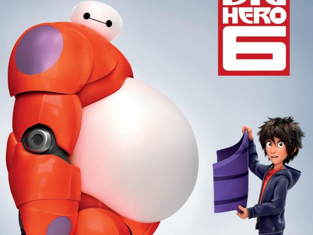 Uno de los Carteles Promocionales de 'Big Hero 6'