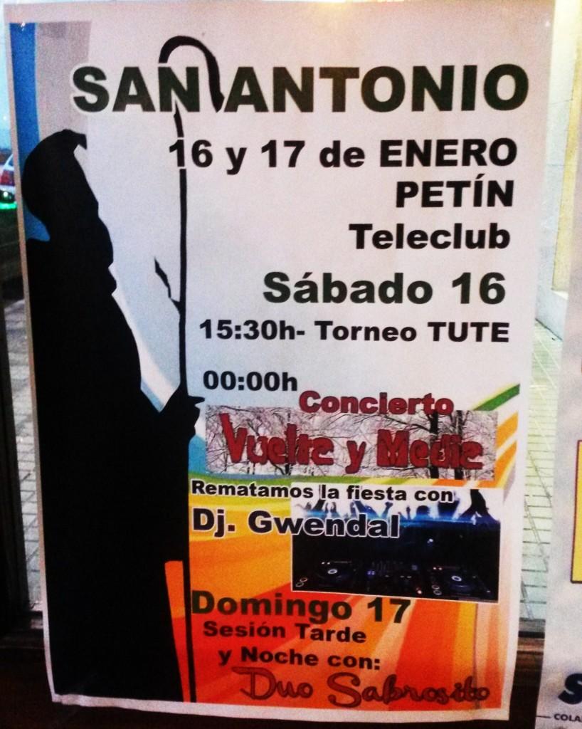 Cartel de la Fiesta de San Antonio de Petín