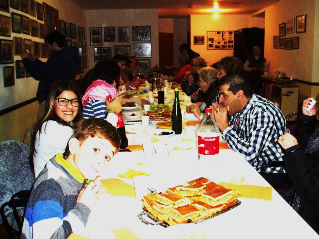 En plena cena de aniversario de A Ruada