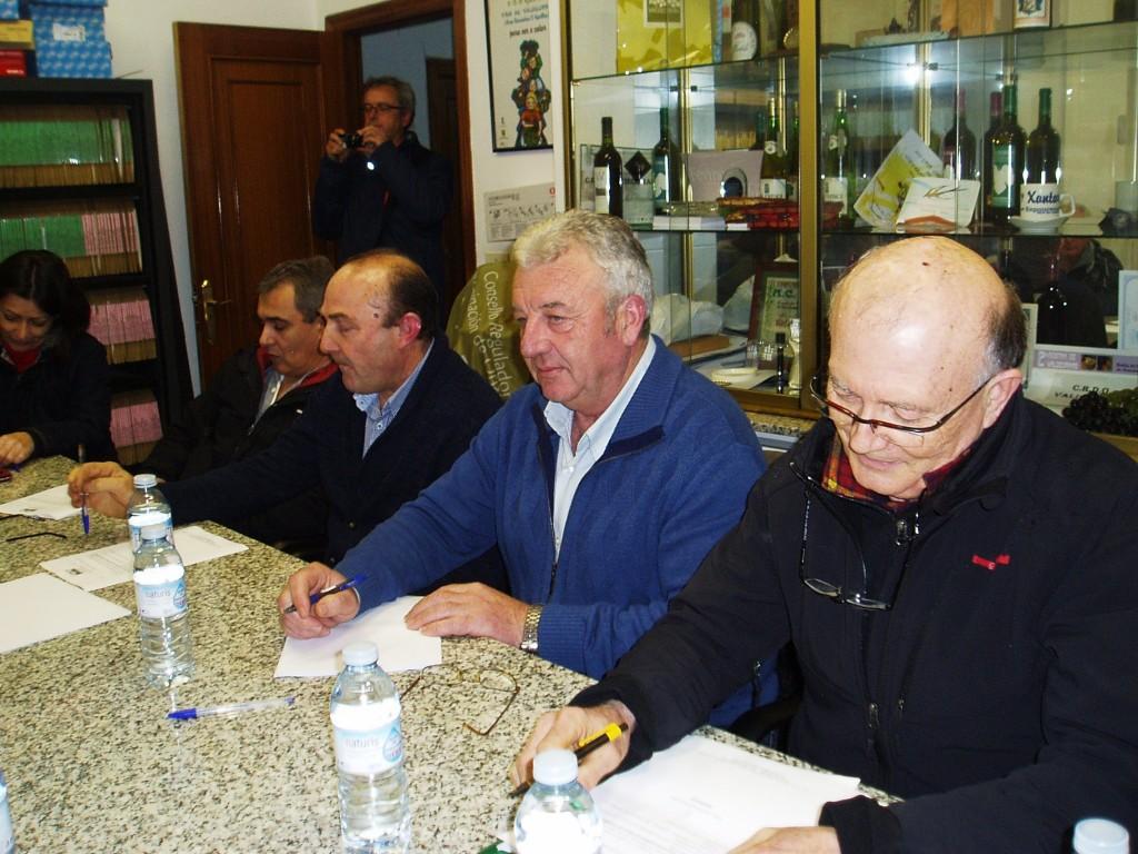 Francisco García Álvarez, a la derecha, en el pleno de la dismisión de Solarat
