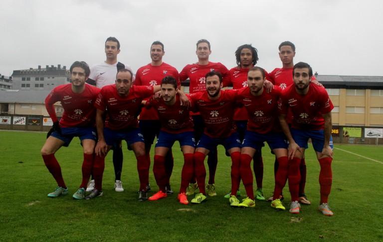 Archivo. XI del CD Barco en el anterior partido ante el Verín CF