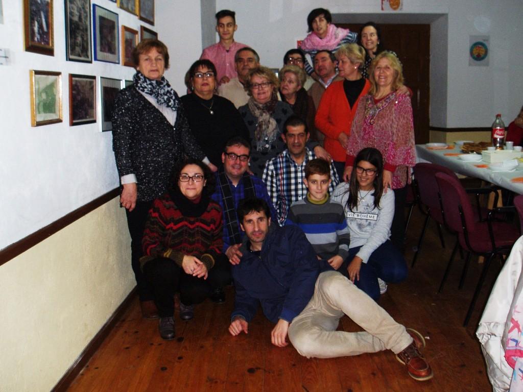 Los miembros de la Agrupación A Ruada