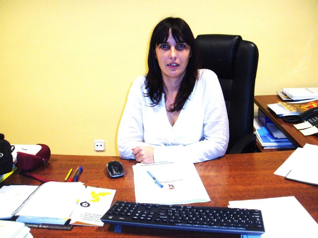 María Albert en el despacho de alcaldía (Foto Archivo)