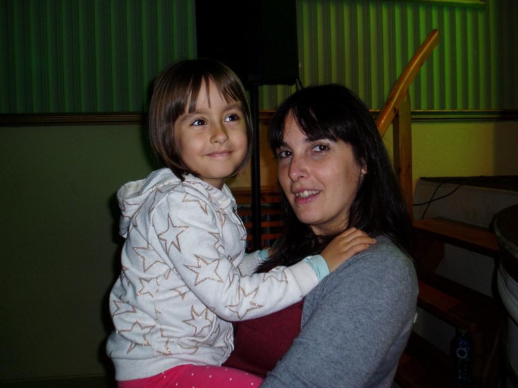 María Albert con su sobrina