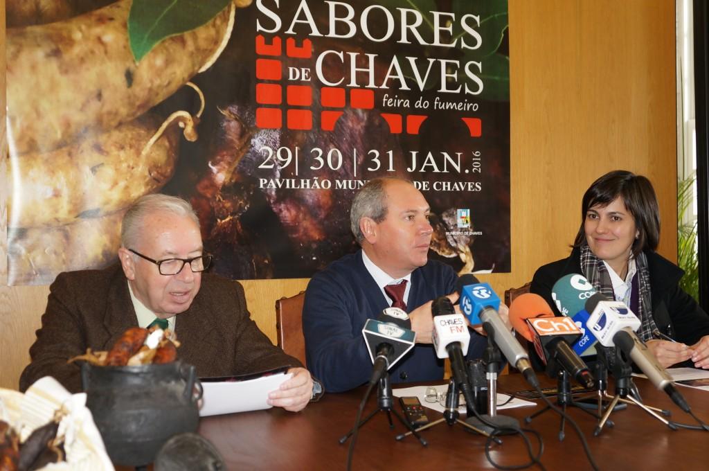 Momento de la presentación de la Feira do Fumeiro de Chaves