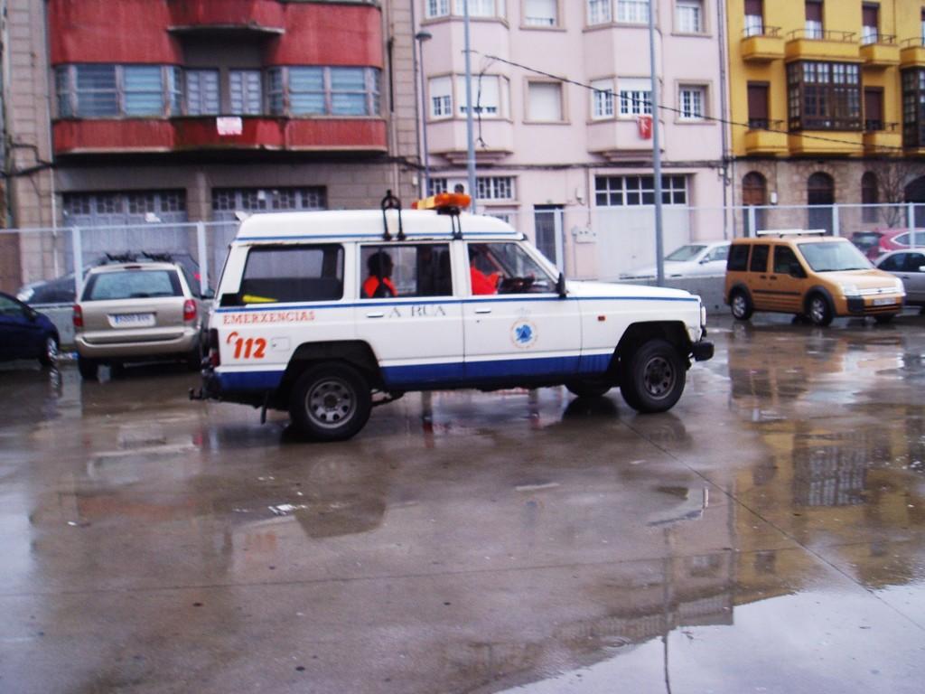 Otro vehículo de Protección Civil de A Rua