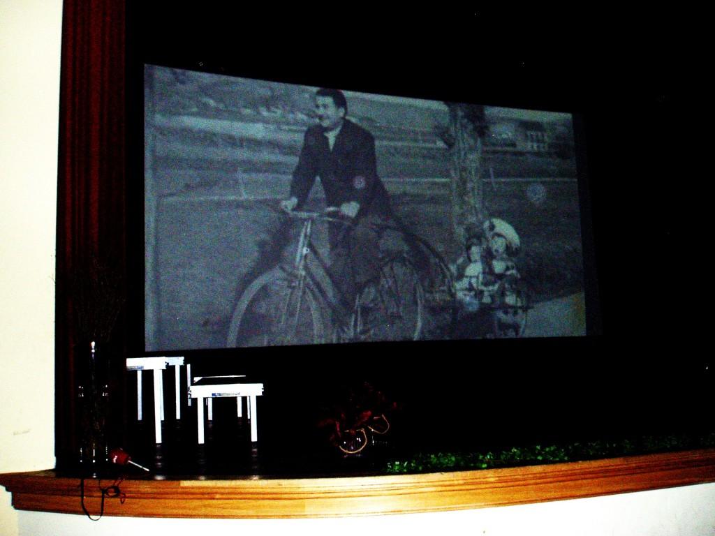 Proyección del vídeo sobre O Sito