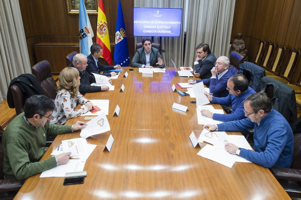 Reunión de Jorge Pumar cos alcaldes dos concellos do espazo metropolitano