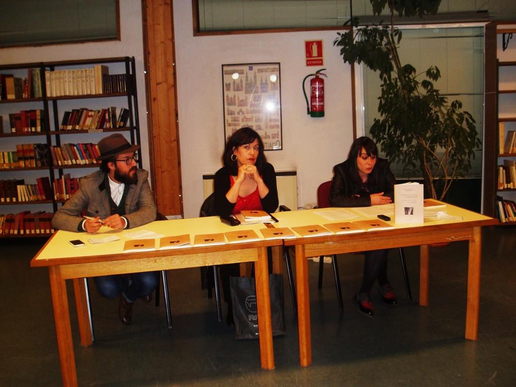Rosa Enríquez con Noelia Rionegro y Victor Nieves