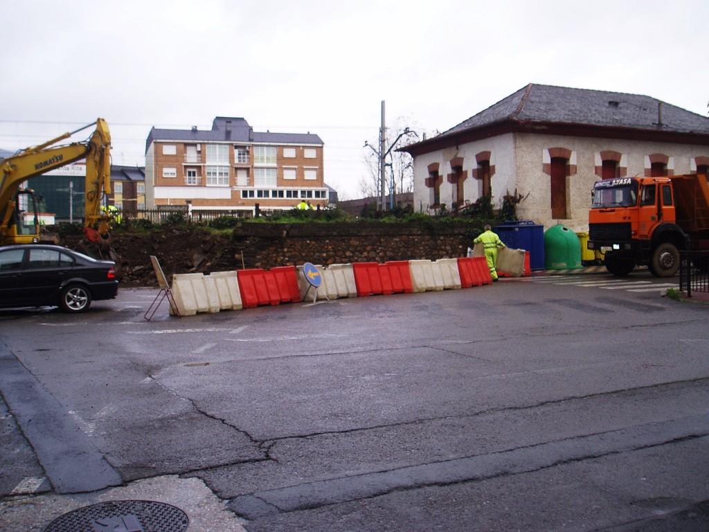 Zona junto a la estación del tren donde comenzaron las obras