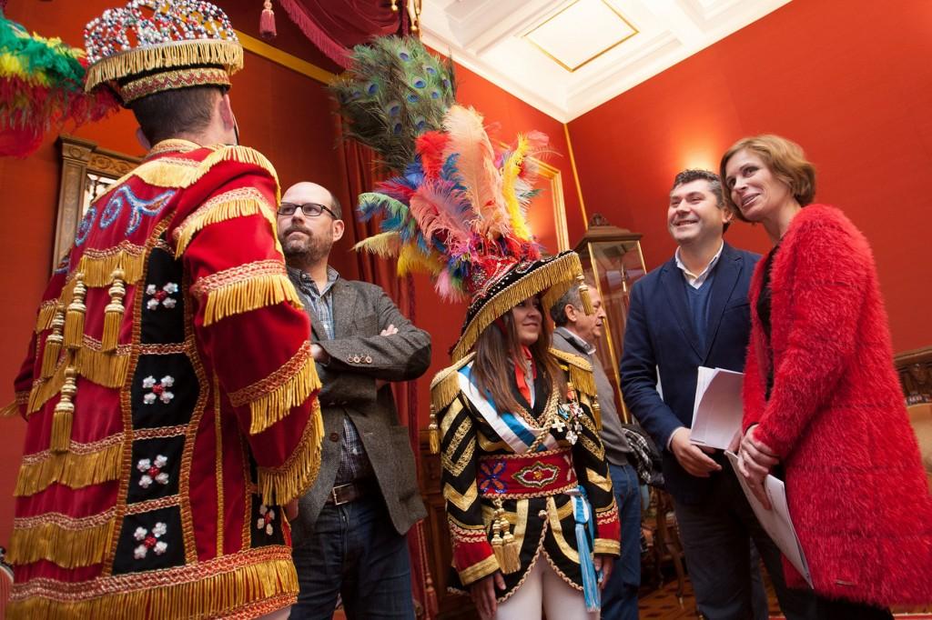 La directora de Turismo de Galicia, Nava Castro, participó en el acto de presentación del Carnaval de los Generales del Ulla  Autor: Ana Varela