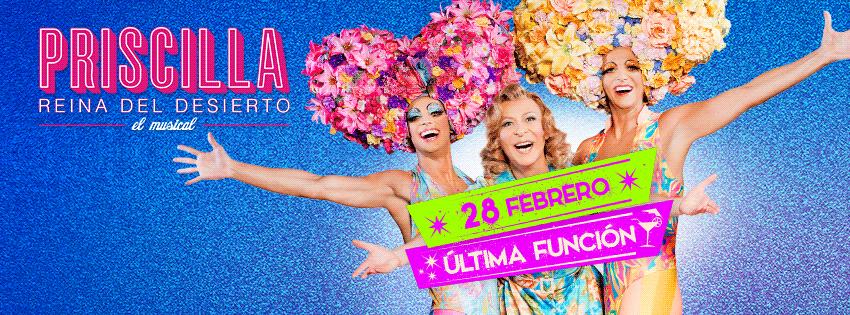 Cartel anunciando la fecha de la última función en Madrid