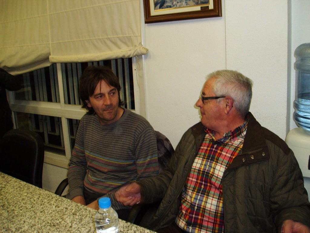 Antonio García y Evaristo García Canelas charlando