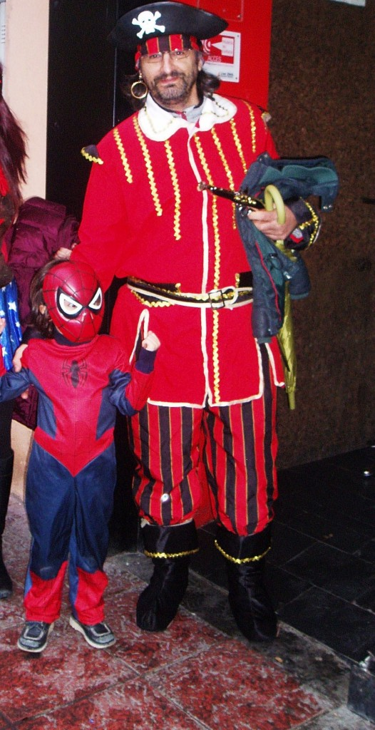 Capitán Garfio y spiderman