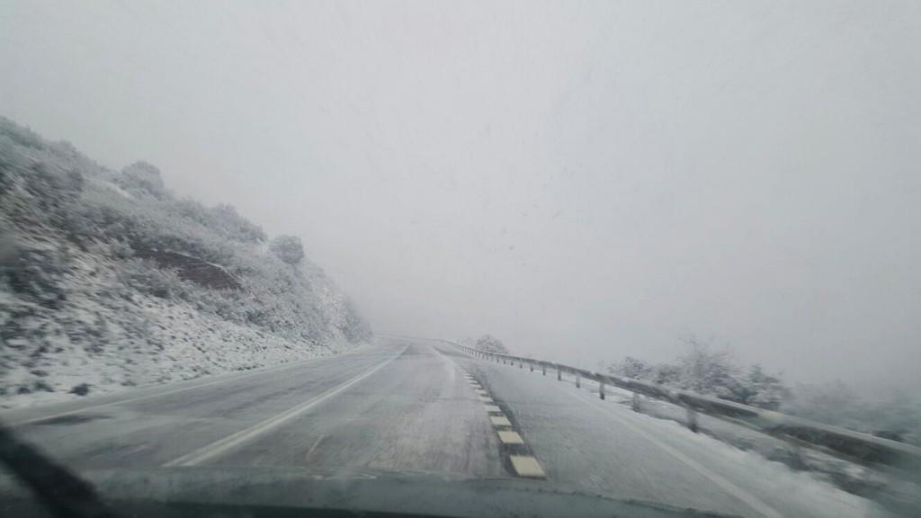 Carretera que conduce hacia Lardeira y Casaio