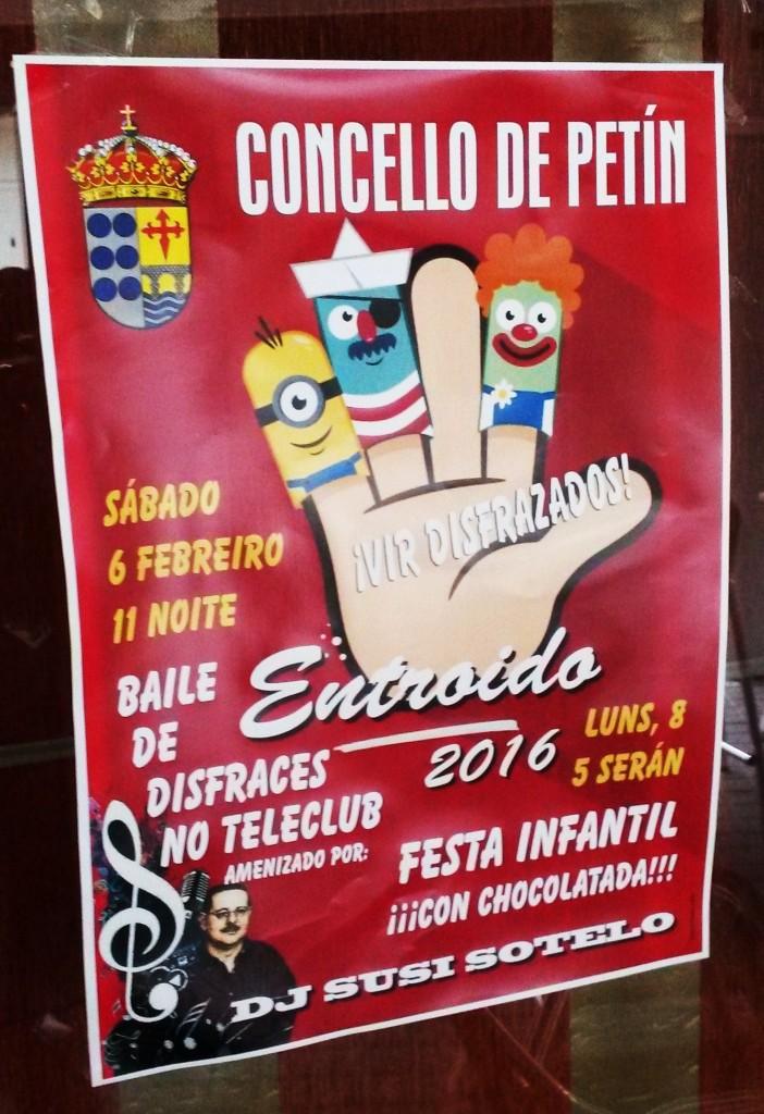 Cartel Entroido Petín 2016