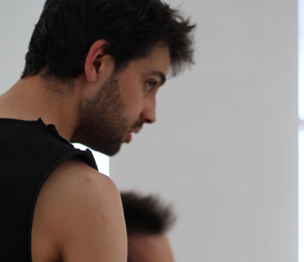 Escuredo, en un momento de los talleres de interpretación en Madrid