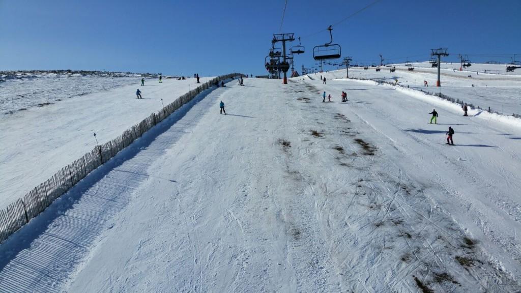 Estación de esquí de Manzaneda, el domingo