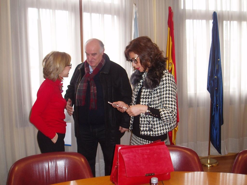 García Ferradal con Marisol Díaz y Encarnación Rivas