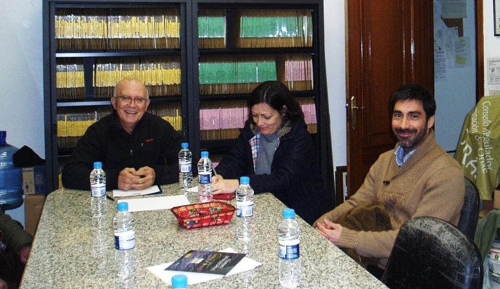 García, la secretaria y Raúl Prada (Valdesil)