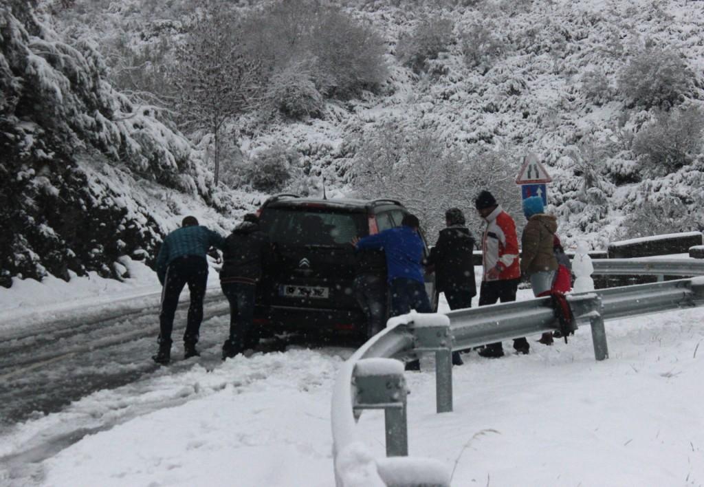 Anterior nevada en Valdeorras
