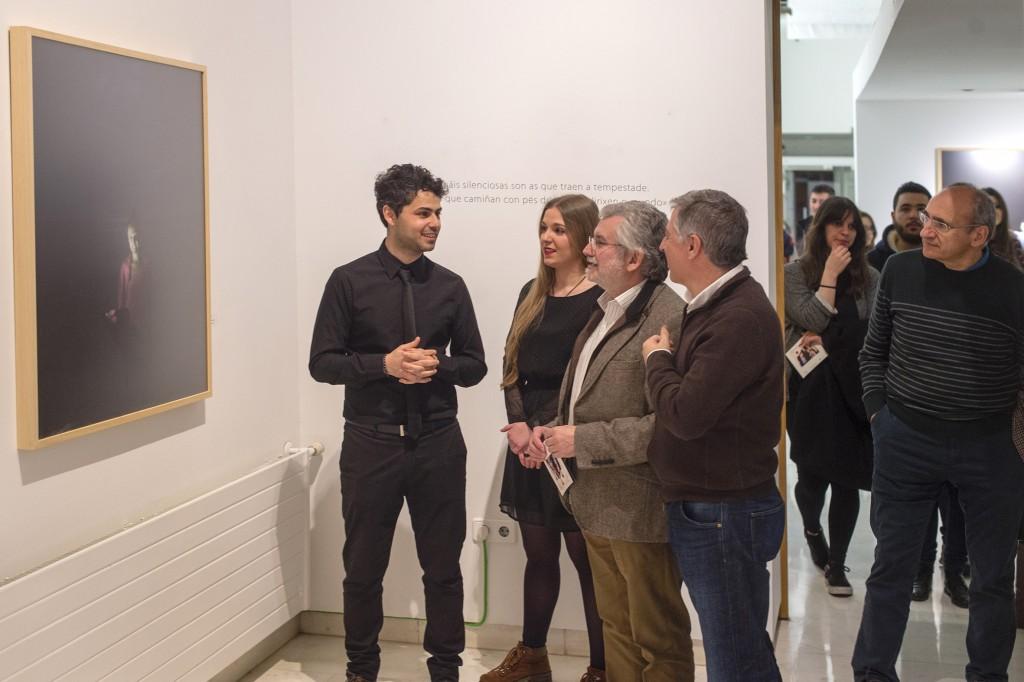 Inauguración da mostra de Francisco Cuéllar
