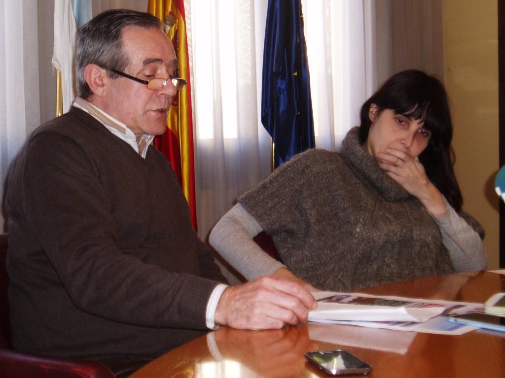 José Rodríguez y Albert durante la presentación del Rali de Invierno