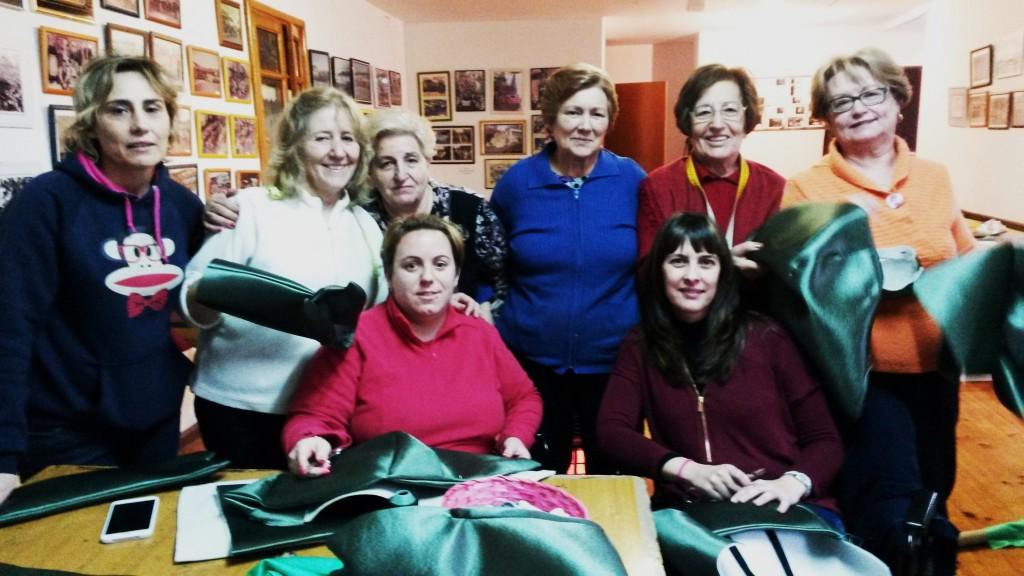 Noemí Sánchez, Carmen Álvarez, Pepa Estévez, Julia Vila, Amalia Campos,  Benita González y Felisa Fariñas